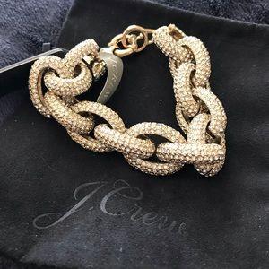 NWT J Crew Pave Chain Link Bracelet
